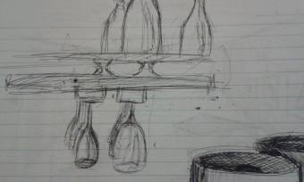 Sketch from San Fran bar and venue. In such a small space, the objects make more of an impression than the venue itself.